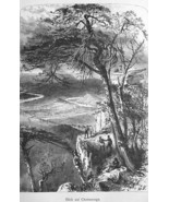 TENNESSEE Chattanooga View from Lookout Mountain - 1883 German Print - $16.20