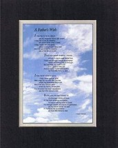 Touching and Heartfelt Poem for Fathers - A Father's Wish Poem on 11 x 14 inches - $15.79