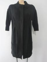Vince Women's Black Cardigan Alpaca Wool Cashmere Long Sweater Size L - $1.574,50 MXN