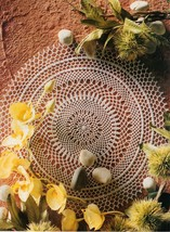Advanced Celtic Magic Concentricity Zig & Zag Pale Crocus Doily Crochet ... - $9.99
