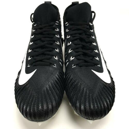 Nike Alpha Menace Elite 11.5 Mens Football Cleats Black White Metallic Silver