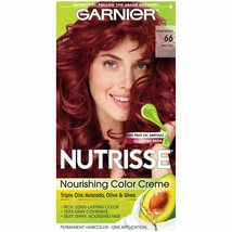 Garnier Nutrisse Nourishing Color Creme #66 True Red Hair Color 1 Applic... - $11.99