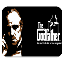 Mouse Pad The Godfather American Crime Movie In Elegant Dark Design Animation - $6.00