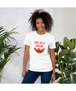 UNISEX T-Shirt One in a Melon with a cute puppy eating a watermelon - $19.99 - $23.99