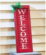 Red, White and Green Porch Accents ,Welcome Shutter - $16.19