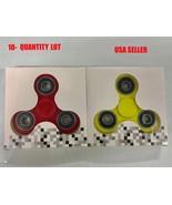 10-Qty Tri-Spinner Fidget Toy Hand Finger Spinner 2 Colors-USA Seller - $49.50