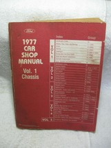 1977 Oem Ford Car Shop Manual Vol.1 CHASSIS-Mustang-Comet-LTD-Torino-Granada!!! - $16.95