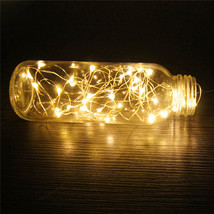 (20 LED warm white)10 LED Battery Operated Heart Shaped Christmas String... - $14.00