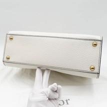 100% Authentic Christian Dior Addict Tote White Calfskin Bag GHW RARE image 8