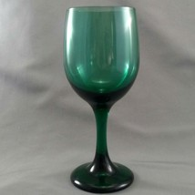 "Libbey Premiere Dark Green Wine Water Glass 7-1/8"" 11 oz Goblet - $4.46"