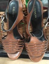 Coach Women's Izzy Heel Sandal, Brown, Size 9 B - $37.61