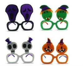 4pc Funny Decorative Halloween Party Glasses Nonwoven Halloween Party De... - £18.07 GBP