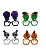 4pc Funny Decorative Halloween Party Glasses Nonwoven Halloween Party De... - £17.57 GBP
