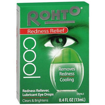 Rohto Cool REDNESS Relief RELIEVER Lubricant Cooling Eye Drops CLEAN Bri... - $6.99
