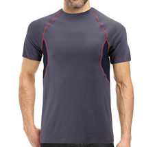 Men's Cool Quick-Dry Gym Workout Sport Running Breathable Performance T-shirt image 9