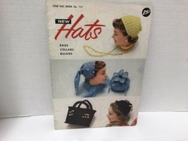 Vtg 50's Pattern Book New Hats Bags Collars Bulkies - $14.84
