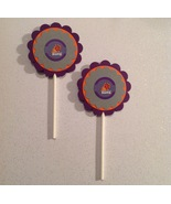 Nba Phoenix Suns Cupcake Toppers Birthday Party Decoration Purple Handma... - $15.00