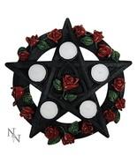Nemesis Now Red Pentagram Rose Tealight Holder 29.5cm, us:one Size - $35.59