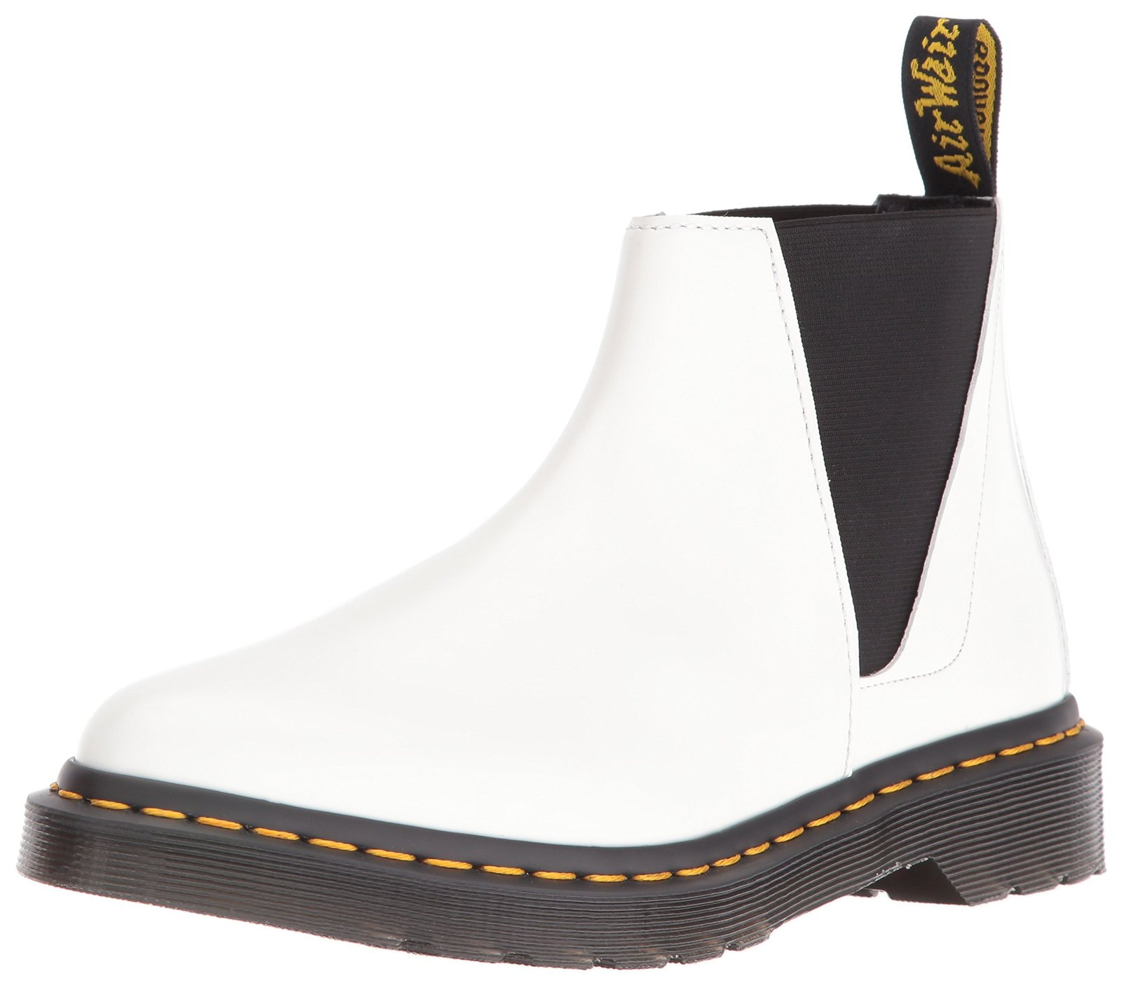 Dr. Martens Women's Bianca Chelsea Boot, White, 6 UK/8 M US