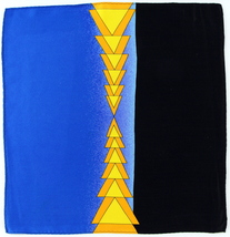 100% Silk Men's Pocket Square Handkerchief Deco Triangles Designer Black... - $17.95