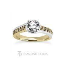1.65ct H-SI2 Ideal Cut Round AGI Genuine Diamonds 14k Gold Split Band Ri... - $5,043.44