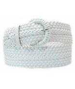 "Narrow 1 3/4""  White Braided Belt for Women Leather 1.75""  Cinch Braid F... - $15.00"