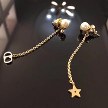 "Authentic Christian Dior ""LA PETITE TRIBALE"" EARRINGS Pearl Dangle Star image 5"