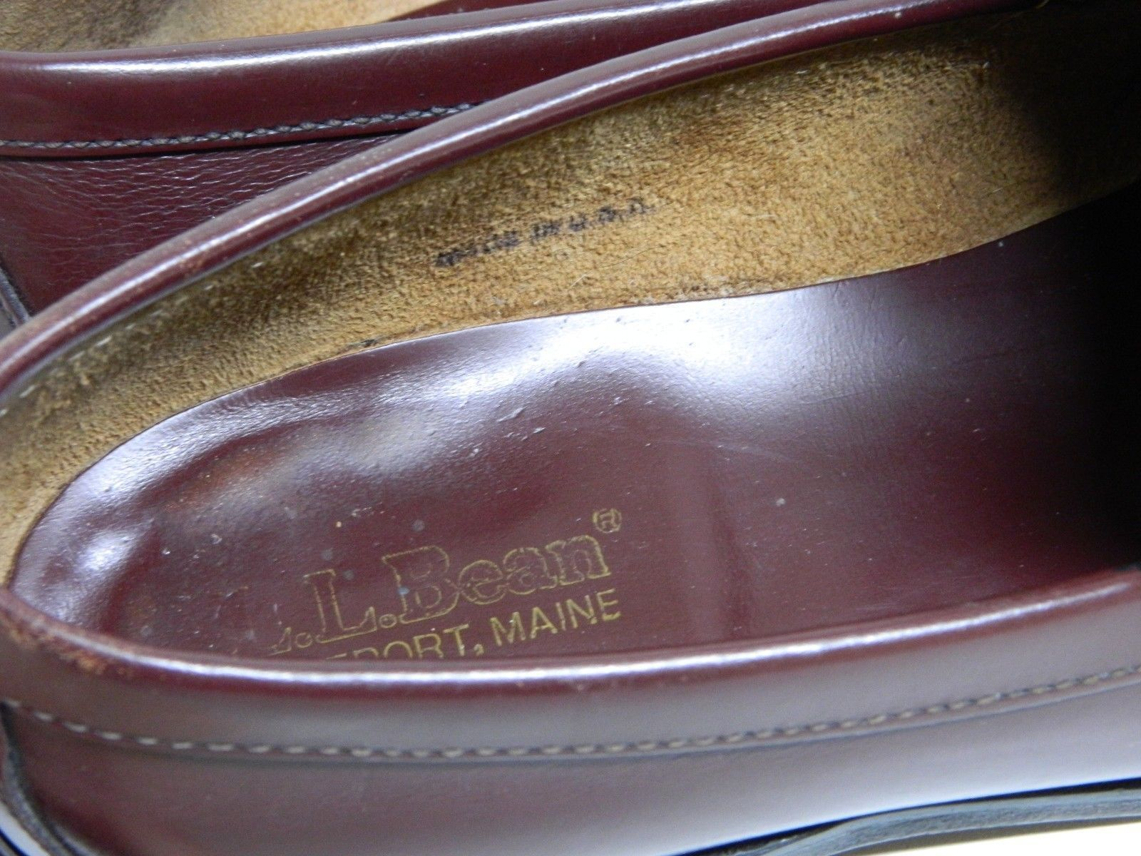 e4545207204 ... Vintage LL Bean Men s Classic Penny Loafers Size 11D Cordovan Made in  USA