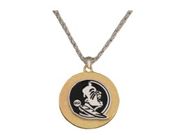 Florida State Seminoles Two Tone Gold Silver Necklace Jewelry FS NCAA - $10.81