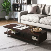Brown COFFEE TABLE OR TV STAND 2-Shelf Open Storage Living Room Furnitur... - $139.95