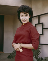 Annette Funicello Smiling Portrait 1960'S In Red Dress 16X20 Canvas Giclee - $69.99