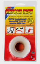 "RESCUE TAPE Self-Fusing CLEAR Silicone Repair Permanent Waterproof 1"" x ... - £9.14 GBP"