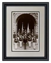 """Schooner Bay Co. 11"""" x 14"""" Clemson University - Cadets on Steps at Tillm... - $58.56"""