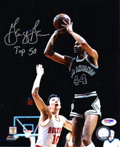 "George Gervin Signed San Antonio Spurs Shooting Action 8x10 Photo w/ ""To... - $60.00"