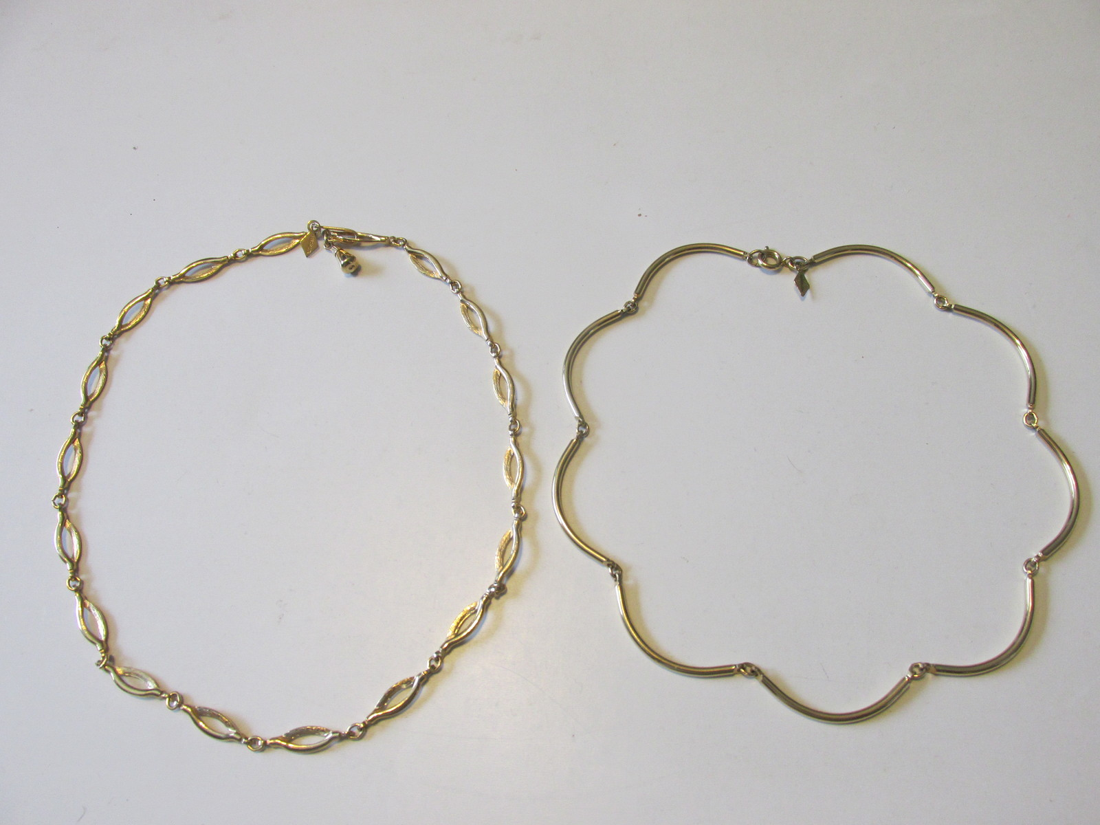 "Vintage Sarah Coventry Gold Toned Necklaces, ""Delightful"" & ""Allure""-1960s, '70s"