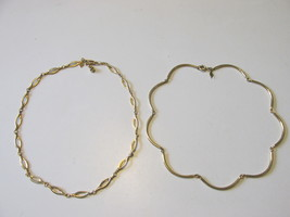 "Vintage Sarah Coventry Gold Toned Necklaces, ""Delightful"" & ""Allure""-196... - $10.99"