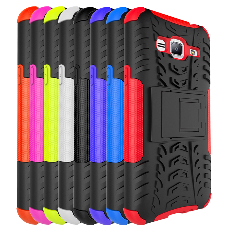 Dual Layer Hybrid Stand Cover Case For Samsung Galaxy Express Prime - Orange