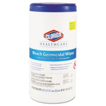 Bleach Germicidal Wipes, 6 3/4 X 9, Unscented, 70/canister, 8 canisters - $238.27