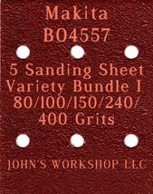 Makita BO4557 - 80/100/150/240/400 Grits - 5 Sandpaper Variety Bundle I - $7.53