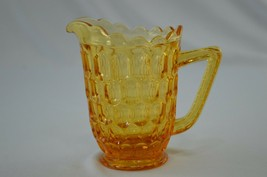 Fenton Thumbprint Colonial Amber Creamer 4403 CA - $8.91