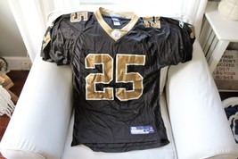 Reggie Bush #25 New Orleans Saints Reebok Black Gold Jersey Adult Size S... - $15.83