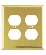 Amerelle Century Double Duplex Steel Wallplate in Polished Brass - $4.53