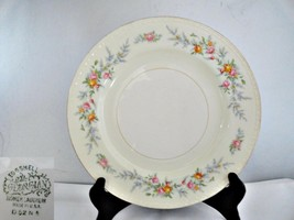 Homer Laughlin Pink & Yellow Roses Vintage 1952 Dinner Plate - $10.62