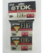 TDK EHG TC-30 VHS-C Super Avilyn Technology 2 Camcorder Blank Cassette Tapes - $3.95