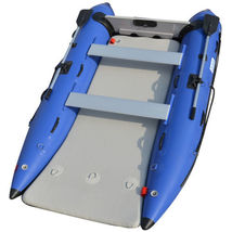 BRIS 11 ft Inflatable Catamaran Inflatable Boat Dinghy Mini Cat Boat Blue  image 2