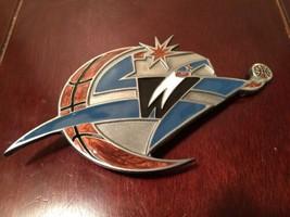Washington Wizards Logo BELT BUCKLE NBA PEWTER NEW Basketball Fan Gear - $9.89