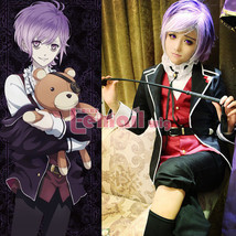DIABOLIK LOVERS Sakamaki Kanato Uniform Coat+Vest+Shirt+Pants Cosplay Co... - $45.99