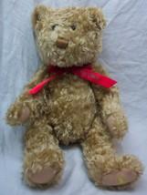 "Hallmark TAN TEDDY BEAR W/ RED ""100 Years"" BOW 13"" Plush STUFFED ANIMAL Toy - $16.34"