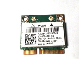 Details About Dell DW1704 R4GW0 BCM943142HM Wireless Wifi 300MBPS Bluetooth 4. - $7.85
