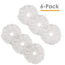 Lot of 6 Replacement Microfiber Mop Head Refill For Magic Mop 360° Spin Mophead - $17.95
